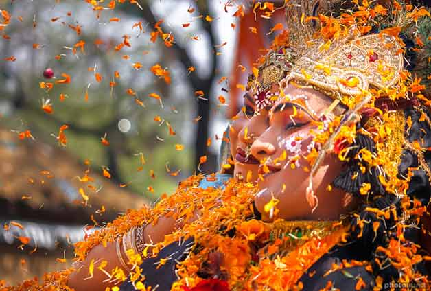 mathura, the second best place to celebrate holi in India