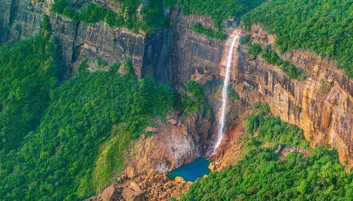 Cherrapunjee, one of the best honeymoon places in india for nature lovers